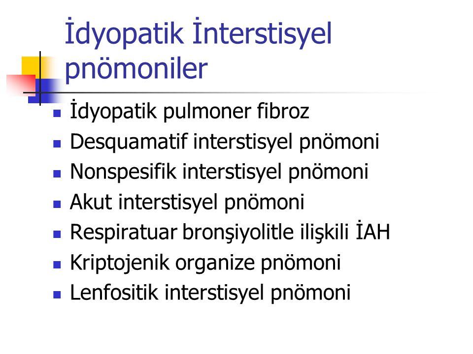 İdyopatik İnterstisyel pnömoniler