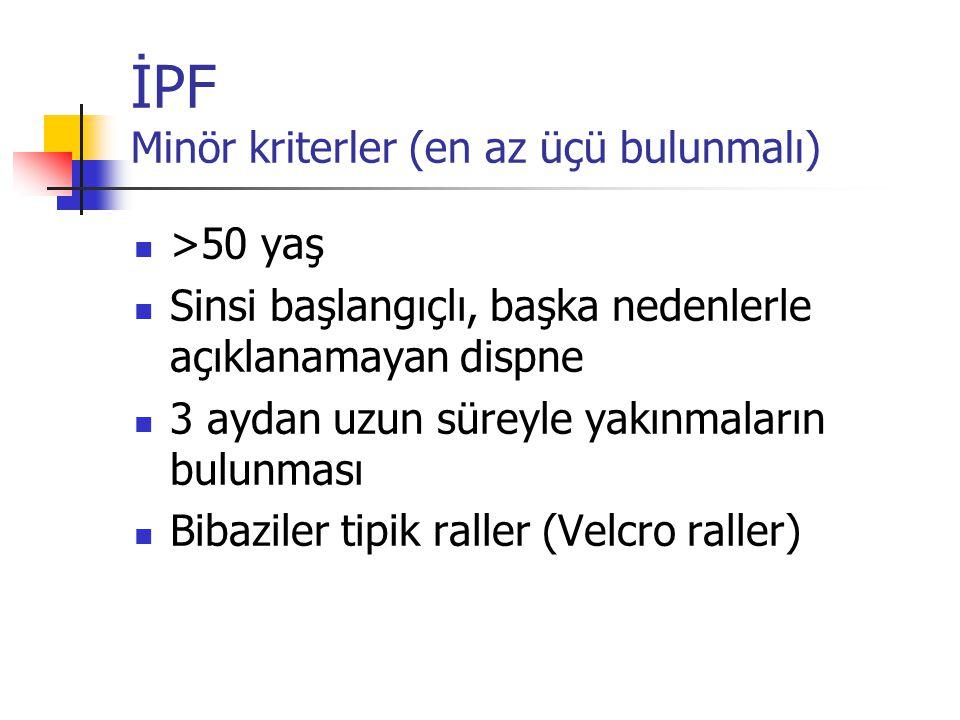 İPF Minör kriterler (en az üçü bulunmalı)