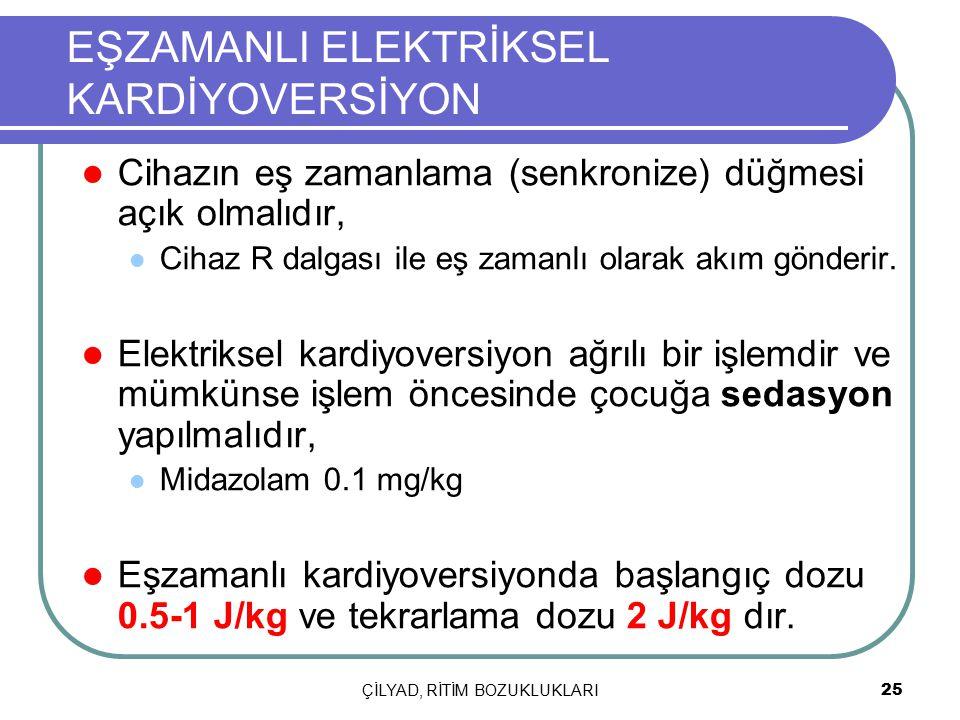 EŞZAMANLI ELEKTRİKSEL KARDİYOVERSİYON
