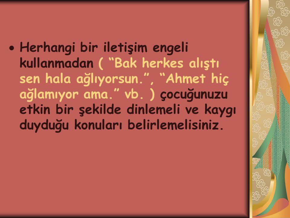 Herhangi bir iletişim engeli kullanmadan ( Bak herkes alıştı sen hala ağlıyorsun. , Ahmet hiç ağlamıyor ama. vb.