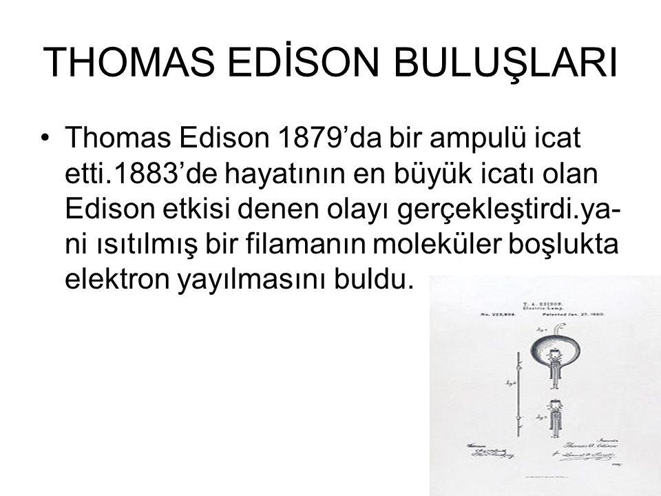 THOMAS EDİSON BULUŞLARI