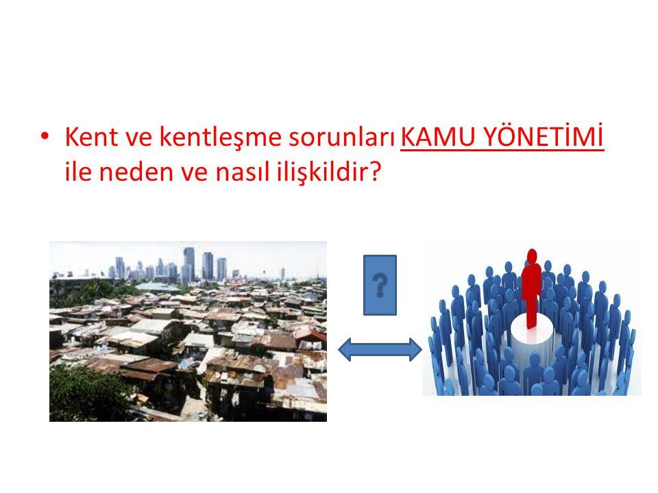 Kent ve kentleşme sorunları KAMU YÖNETİMİ ile neden ve nasıl ilişkildir