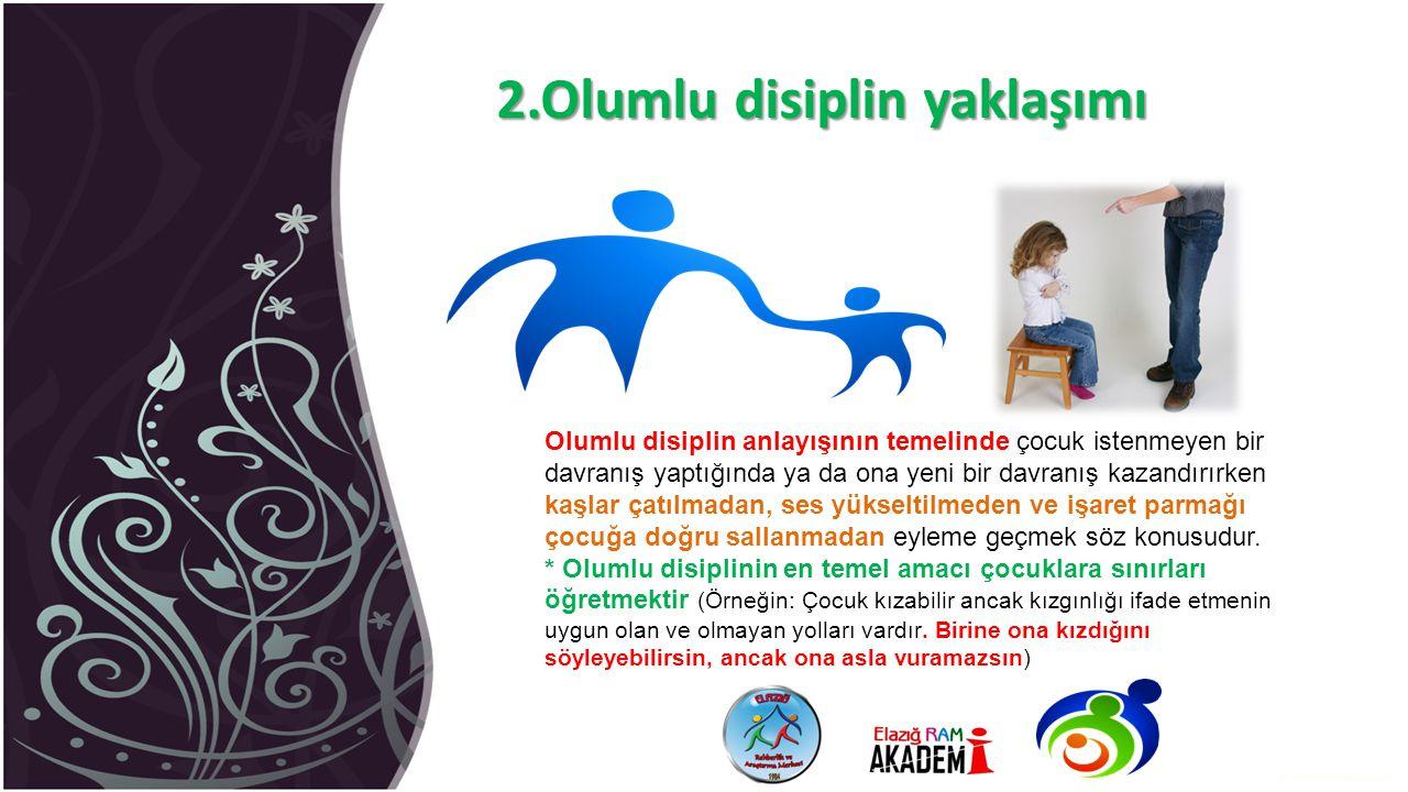 2.Olumlu disiplin yaklaşımı