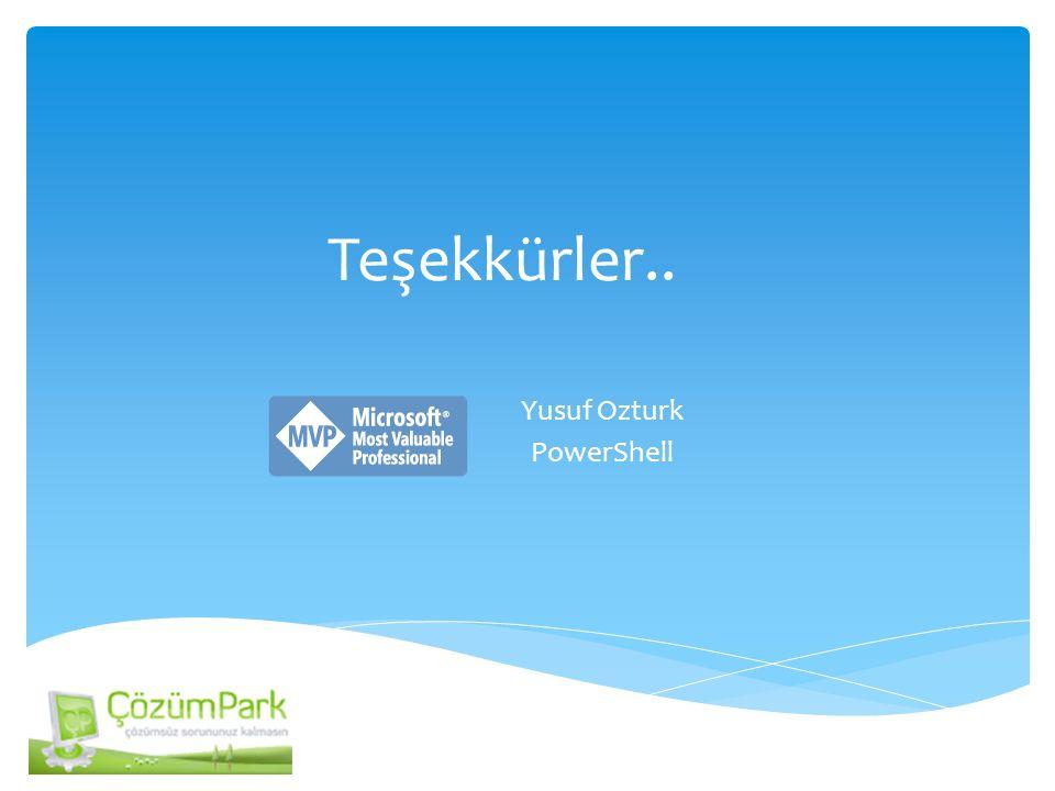 Yusuf Ozturk PowerShell