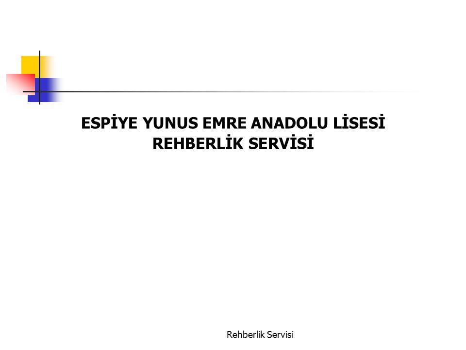 ESPİYE YUNUS EMRE ANADOLU LİSESİ REHBERLİK SERVİSİ