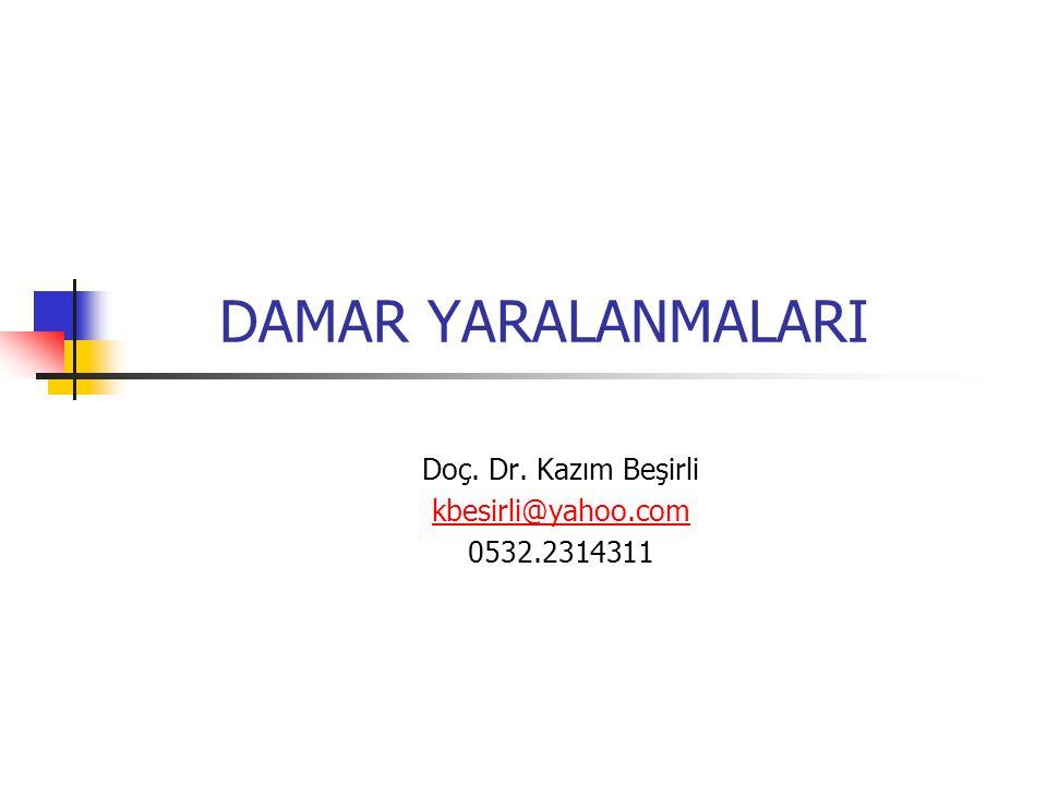Doç. Dr. Kazım Beşirli kbesirli@yahoo.com 0532.2314311