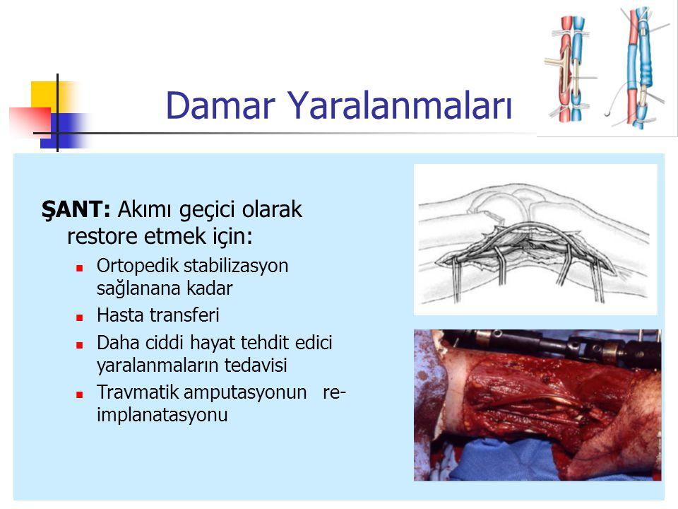 Damar Yaralanmaları ŞANT: Akımı geçici olarak restore etmek için: