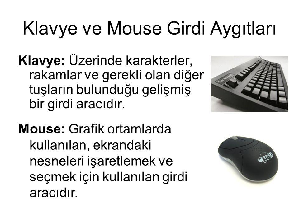 Klavye ve Mouse Girdi Aygıtları