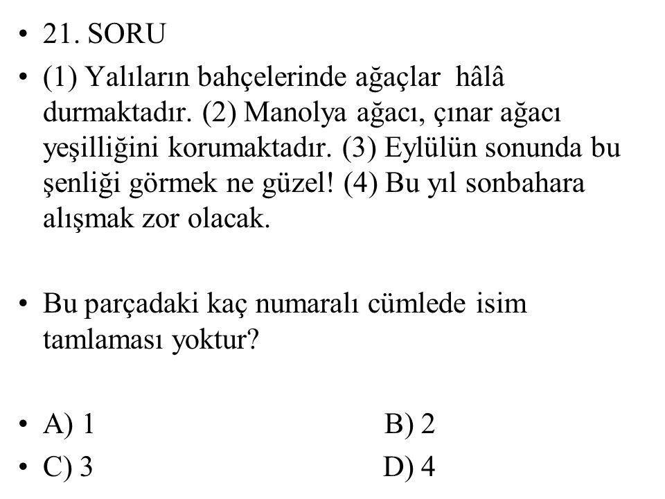 21. SORU