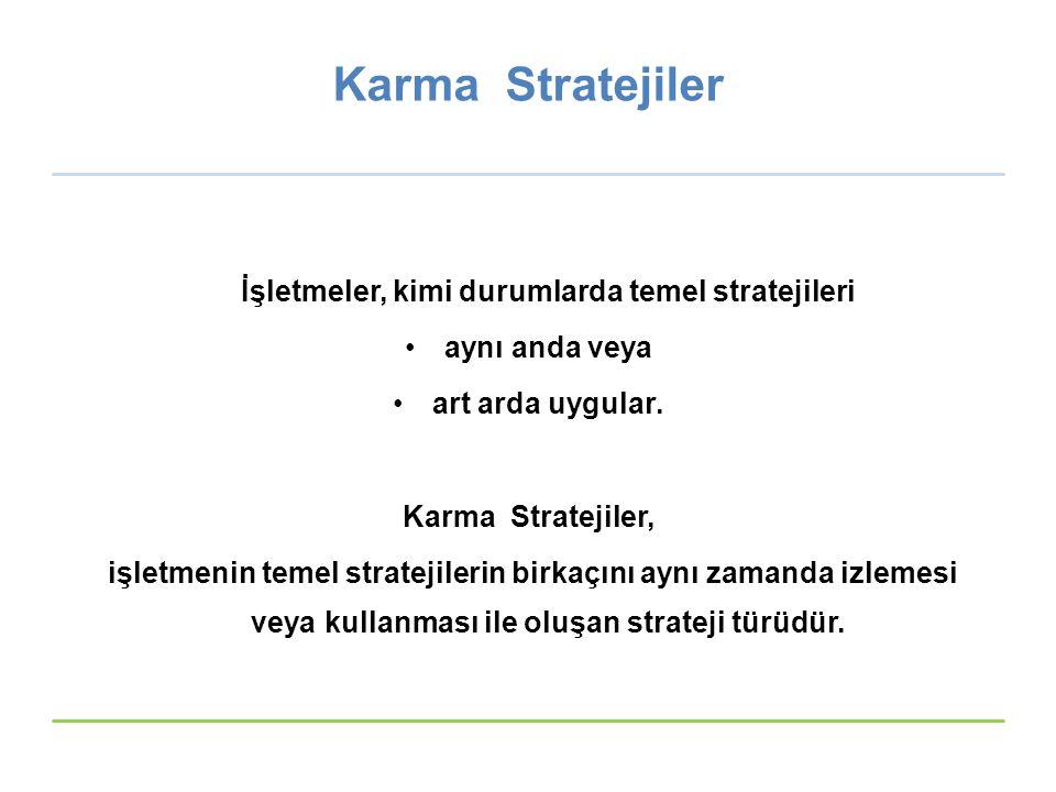 İşletmeler, kimi durumlarda temel stratejileri