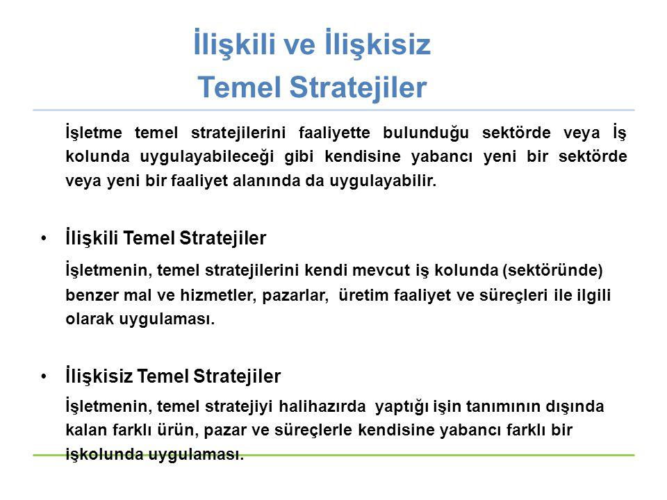 İlişkili ve İlişkisiz Temel Stratejiler
