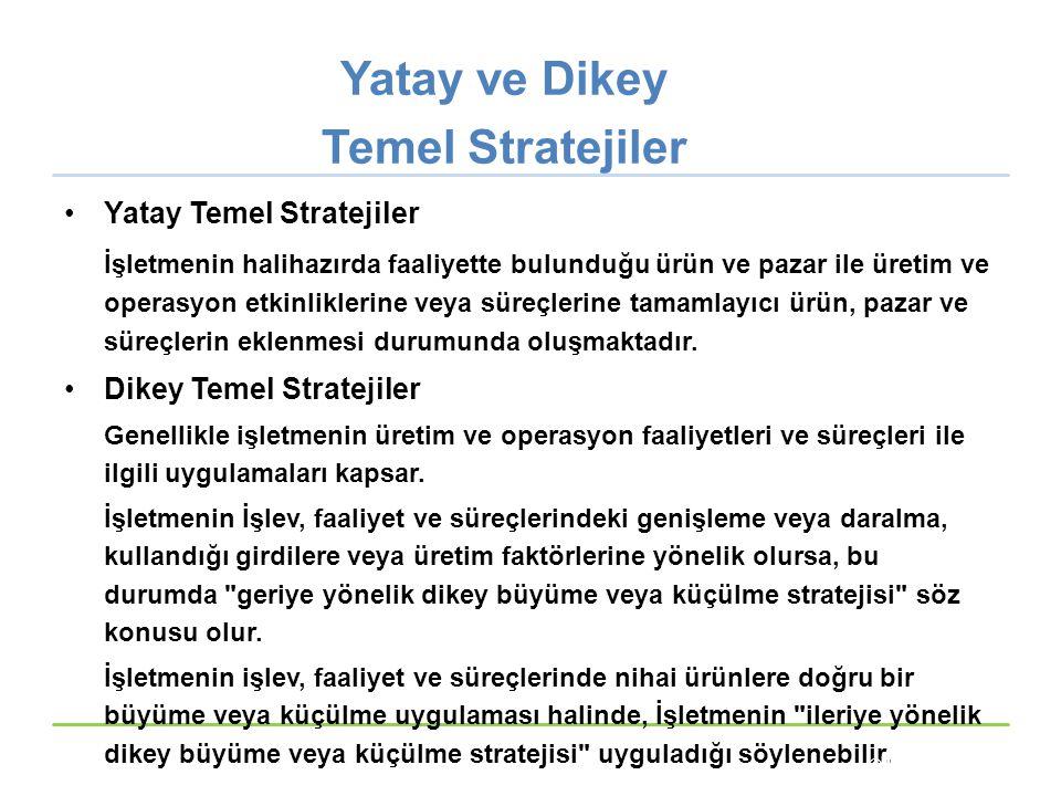 Yatay ve Dikey Temel Stratejiler