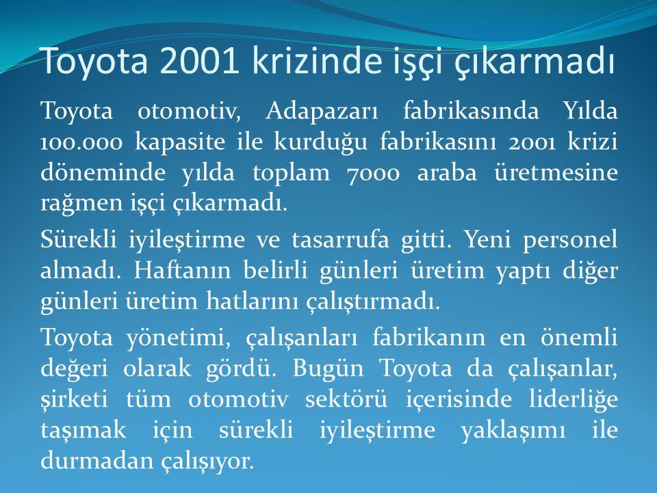 Toyota 2001 krizinde işçi çıkarmadı