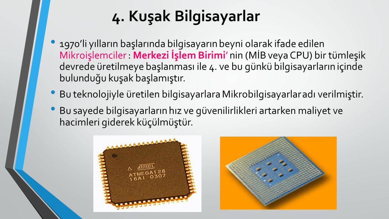 4. Kuşak Bilgisayarlar
