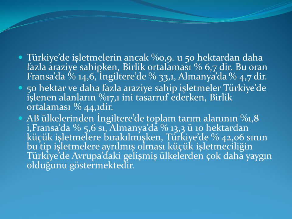 Türkiye'de işletmelerin ancak %0,9