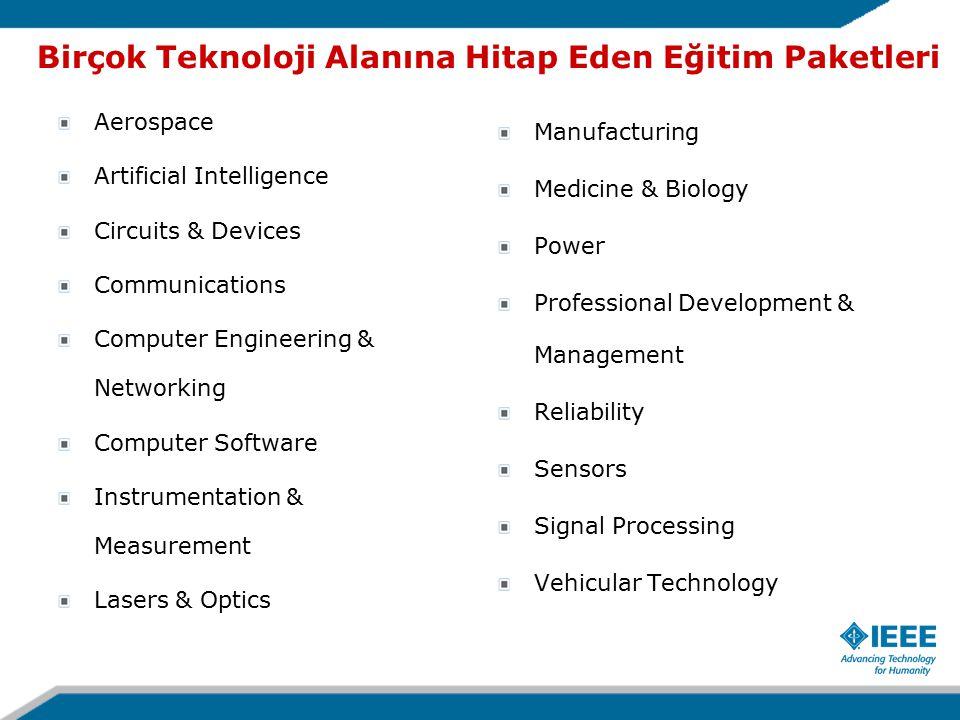 Birçok Teknoloji Alanına Hitap Eden Eğitim Paketleri