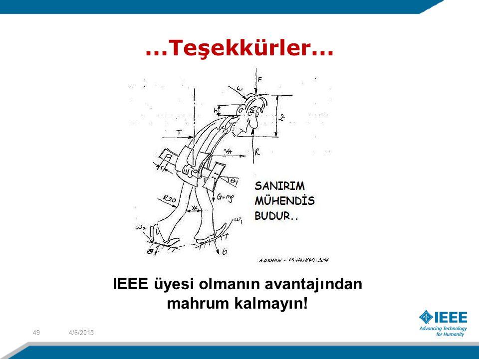 IEEE üyesi olmanın avantajından mahrum kalmayın!