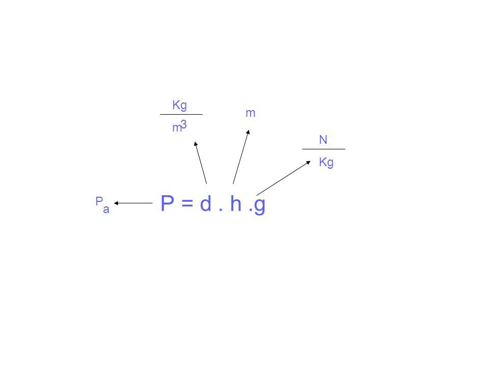 N Kg m 3 P a P = d . h .g