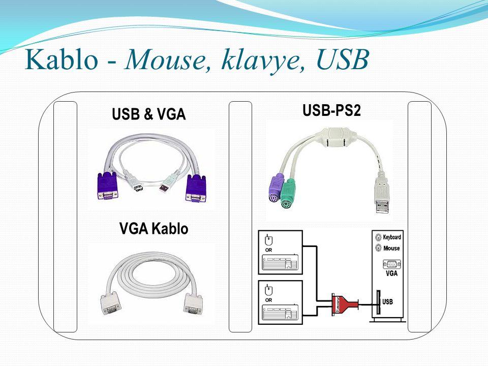 Kablo - Mouse, klavye, USB