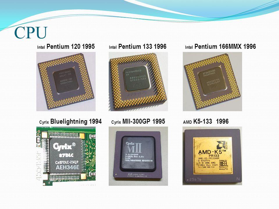 CPU Intel Pentium 120 1995 Intel Pentium 133 1996