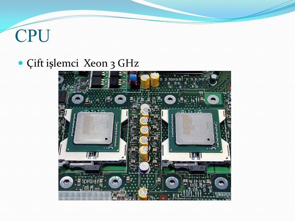 CPU Çift işlemci Xeon 3 GHz