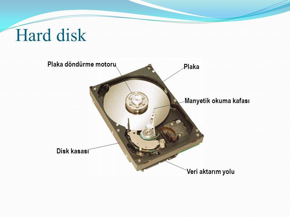 Hard disk Plaka döndürme motoru Plaka Manyetik okuma kafası