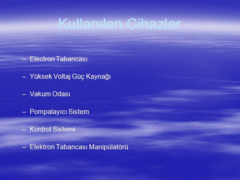 Kullanılan Cihazlar Electron Tabancası Yüksek Voltaj Güç Kaynağı