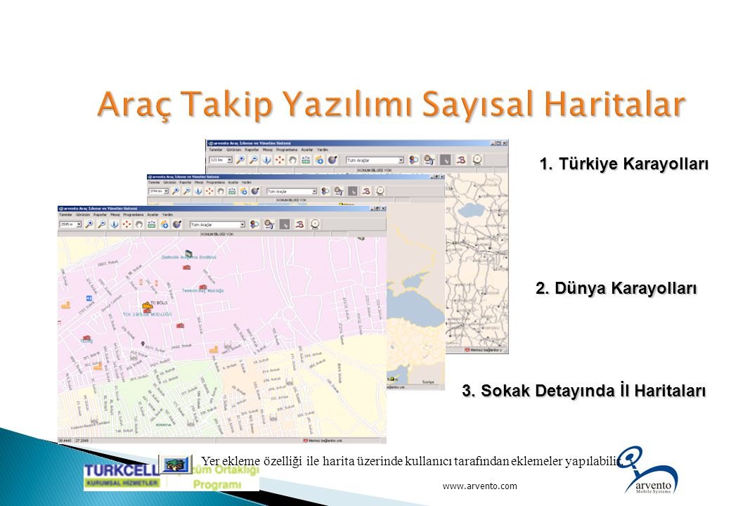 Araç Takip Yazılımı Sayısal Haritalar