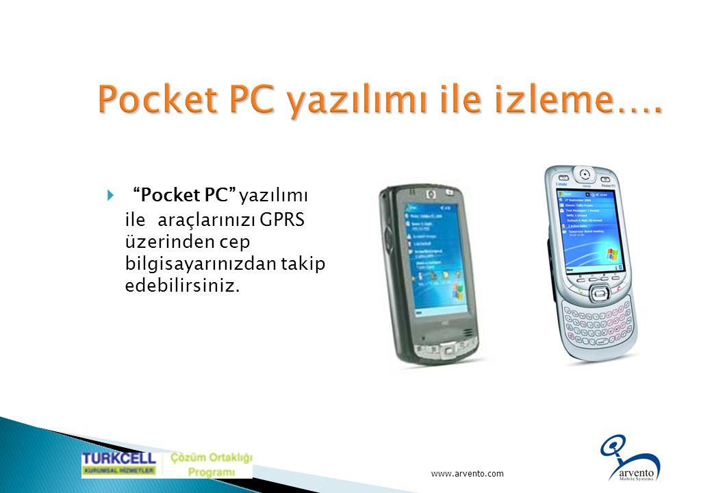 Pocket PC yazılımı ile izleme….
