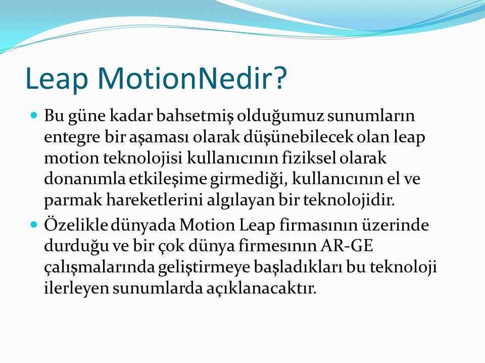 Leap MotionNedir