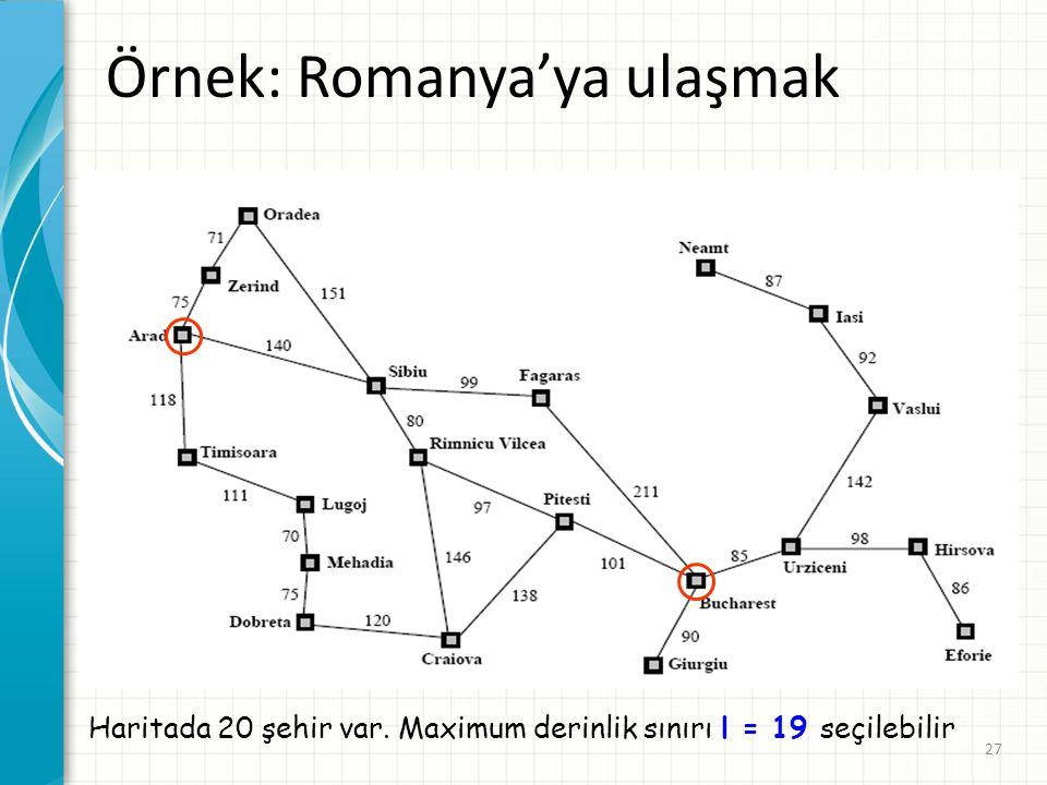 Örnek: Romanya'ya ulaşmak