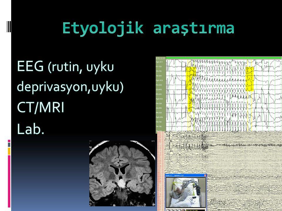 Etyolojik araştırma EEG (rutin, uyku deprivasyon,uyku) CT/MRI Lab.