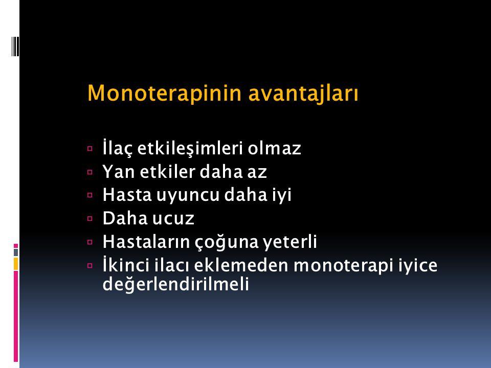 Monoterapinin avantajları