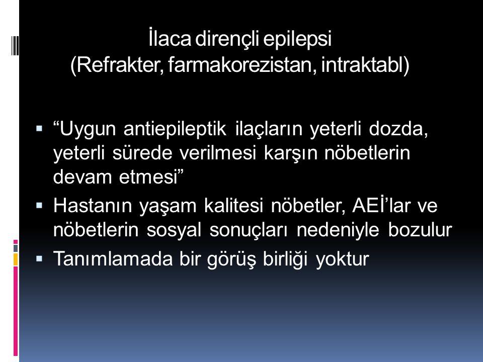 İlaca dirençli epilepsi (Refrakter, farmakorezistan, intraktabl)