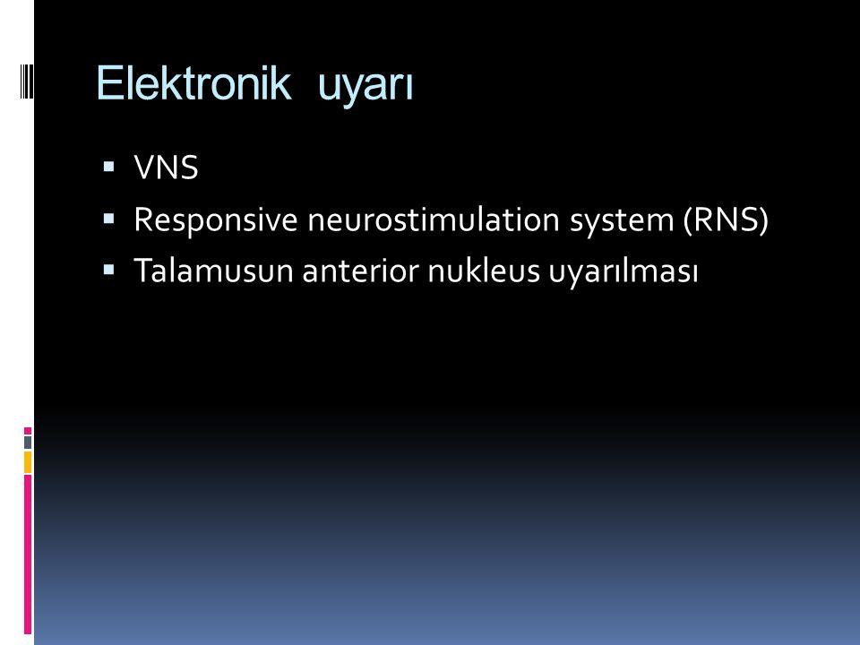Elektronik uyarı VNS Responsive neurostimulation system (RNS)