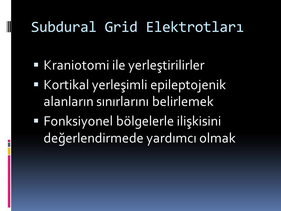Subdural Grid Elektrotları