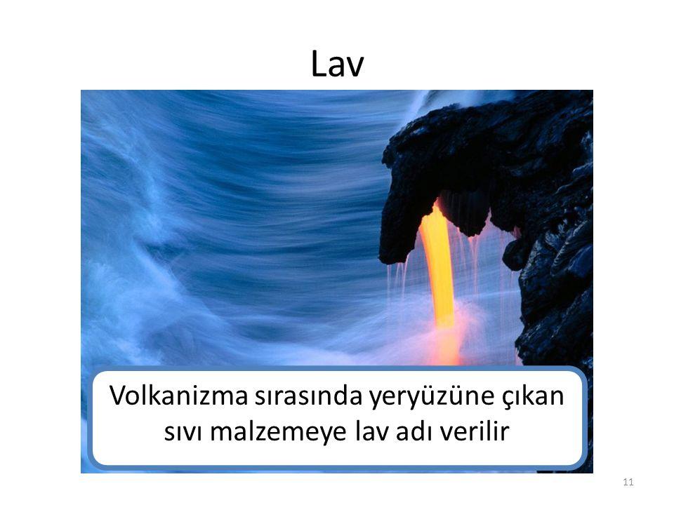 Volkanizma sırasında yeryüzüne çıkan sıvı malzemeye lav adı verilir