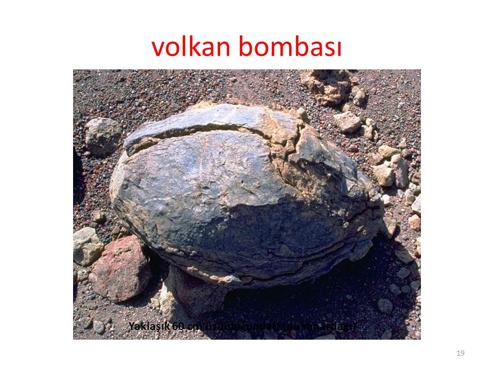volkan bombası Yaklaşık 60 cm uzunluğunda(Etna Yanardağı)