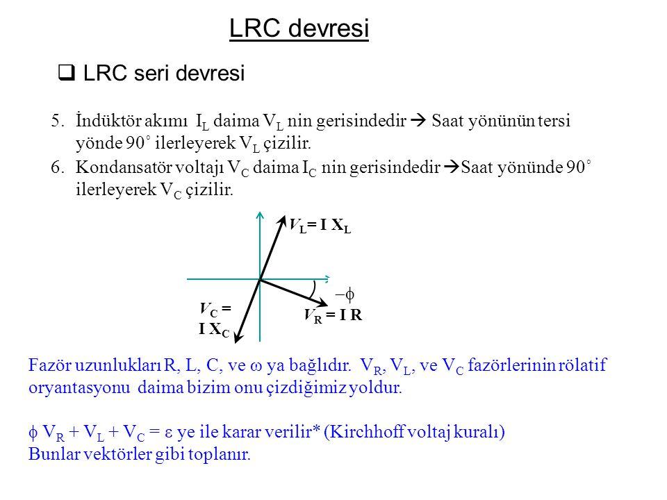 LRC devresi LRC seri devresi