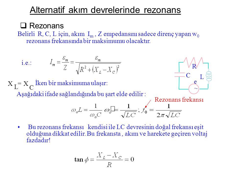 Alternatif akım devrelerinde rezonans