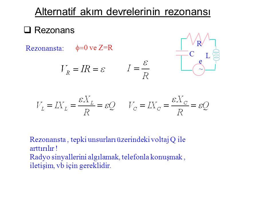 Alternatif akım devrelerinin rezonansı