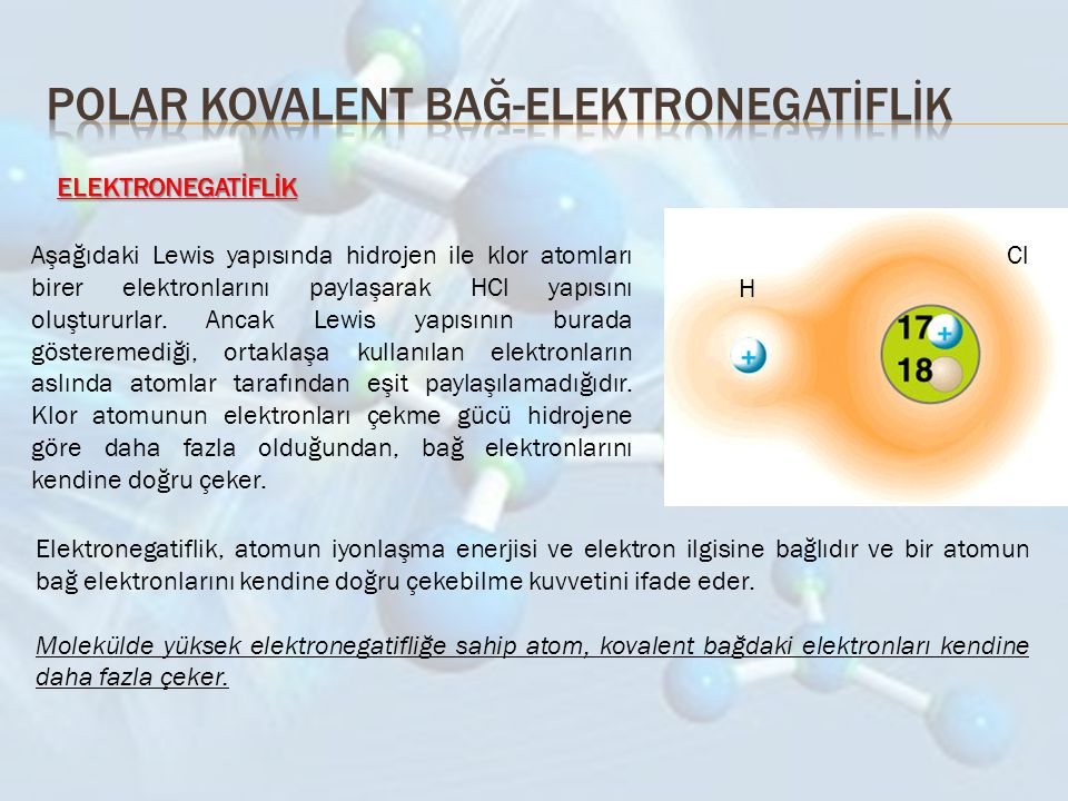 Polar kovalent bağ-elektronegatİflİk