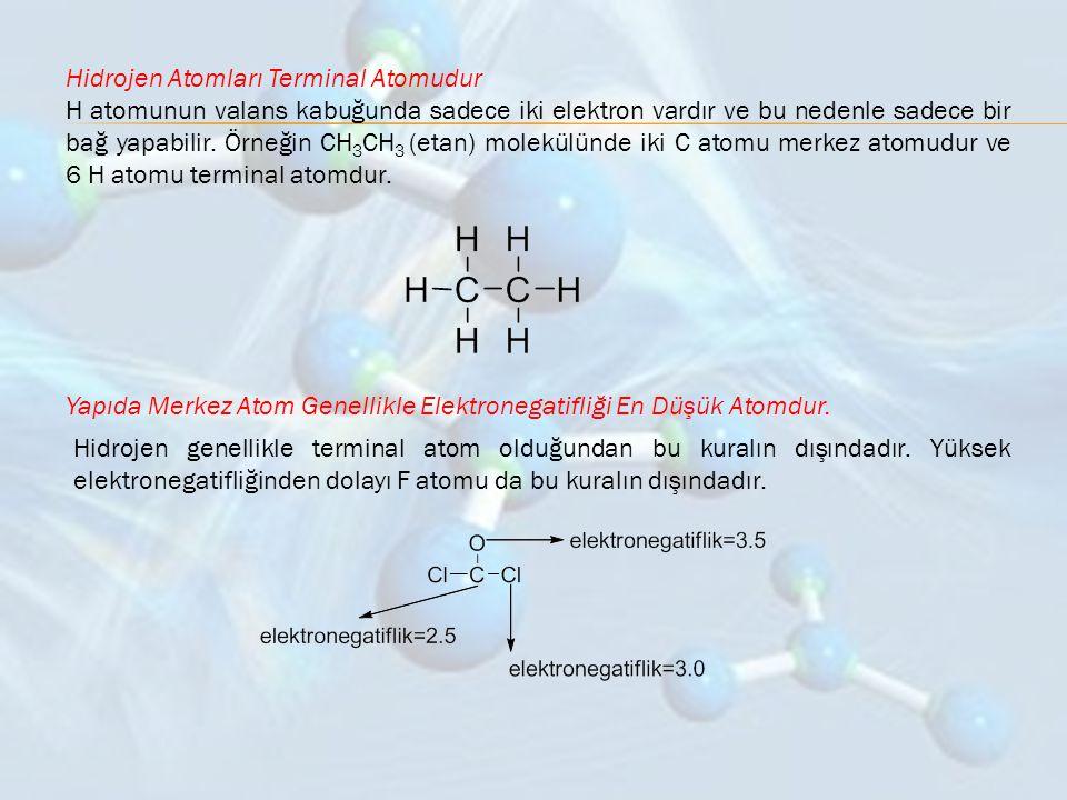 Hidrojen Atomları Terminal Atomudur
