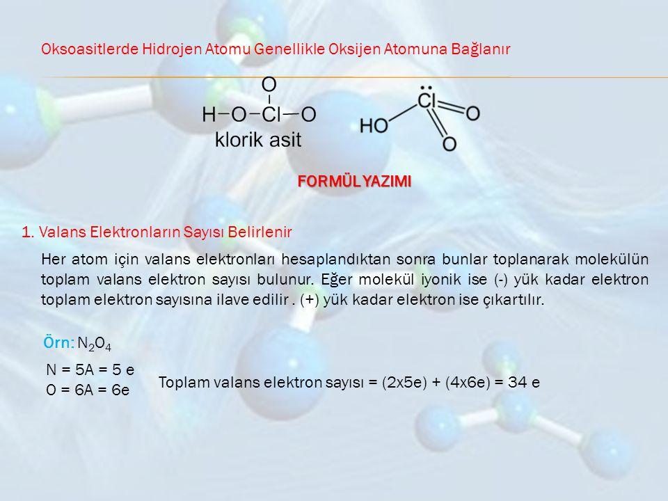 Oksoasitlerde Hidrojen Atomu Genellikle Oksijen Atomuna Bağlanır