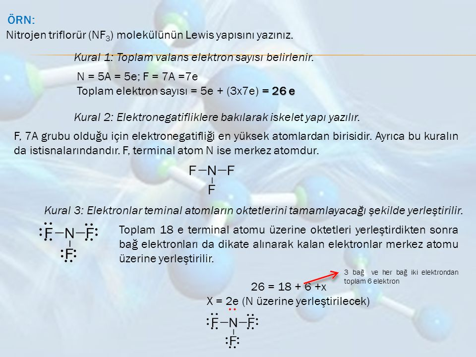 X = 2e (N üzerine yerleştirilecek)