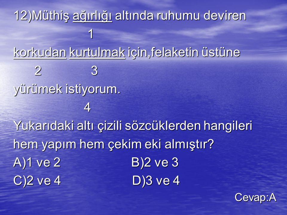 12)Müthiş ağırlığı altında ruhumu deviren 1