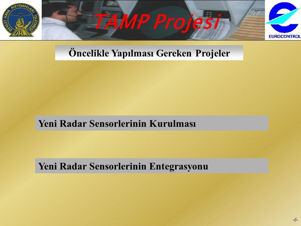 Öncelikle Yapılması Gereken Projeler