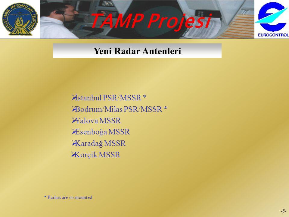 Yeni Radar Antenleri İstanbul PSR/MSSR * Bodrum/Milas PSR/MSSR *