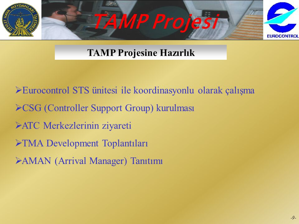 TAMP Projesine Hazırlık