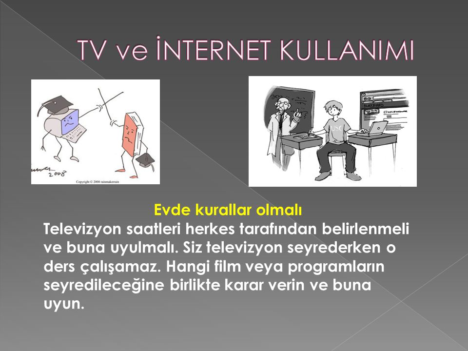 TV ve İNTERNET KULLANIMI